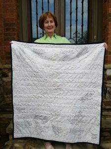 Mary's quilt back